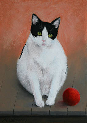 Pj And The Ball Art Print by Marna Edwards Flavell