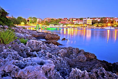 Photograph - Pjescana Uvala Tourist Village Near Pula Evening Beach View by Brch Photography