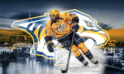 Canadiens Digital Art - Pk Subban Nashville Predators by Nicholas Legault