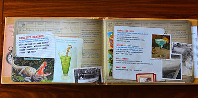 Photograph - Pilots Log Bar Menu Page 4 by David Lee Thompson