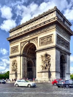 Photograph - Arc De Triomphe # 2 by Mel Steinhauer