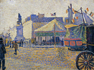 Streetscape Painting - Place De Clichy by Paul Signac
