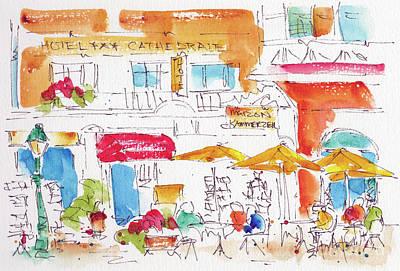 Painting - Place De La Cathedrale Strasbourg by Pat Katz