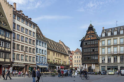 Photograph - Place De La Cathedrale Strasbourg by Teresa Mucha