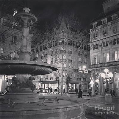 Photograph - Place De La Comedie by Louise Fahy