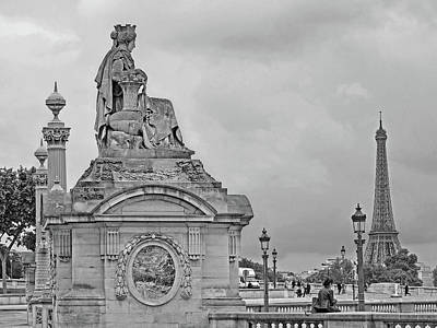Photograph - Place De La Concorde With A View Of The Eiffel Tower by Digital Photographic Arts