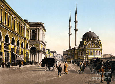 Painting - Place De Tophane Constantinople by Celestial Images