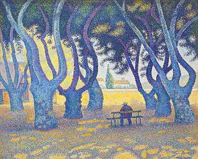 St.tropez Painting - Place Des Lices St Tropez by Paul Signac