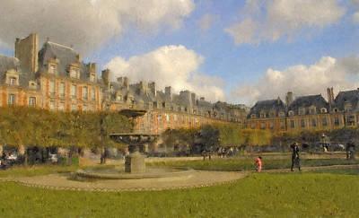 Digital Art - Place Des Vosges by Mick Burkey