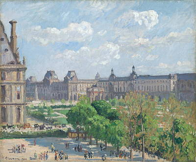 Public Holiday Painting - Place Du Carrousel, The Tuileries Gardens, 1900 Q by Camille Pissarro