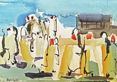 Painting - Place Du Marche' by Phyllis Hanson Lester