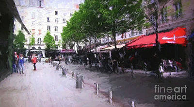 Mixed Media - Place Du Marche Saint Honore Paris, France by Roger Lighterness