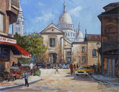 Paris Painting - Place Du Tertre, Montmartre by Irek Szelag