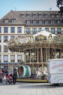 Photograph - Place Gutenberg Carrousel by Teresa Mucha
