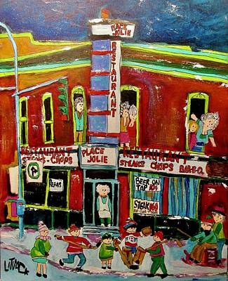 Painting - Place Jolie Atwater Notre Dame St. Henri by Michael Litvack