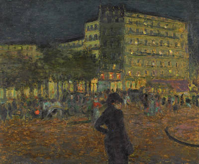 Painting - Place Pigalle At Night by Pierre Bonnard