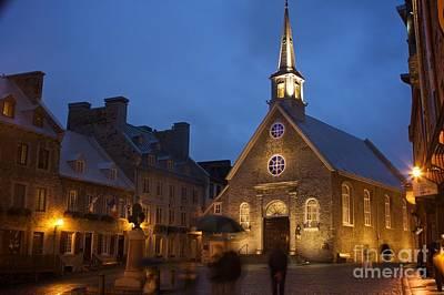 Place Royale And Notre-dame-des-victoires Church Art Print