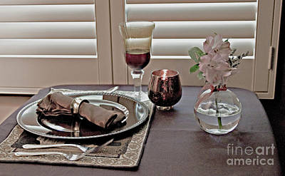 Photograph - Place Setting For One by Sherry Hallemeier