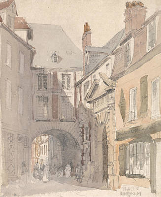 Painting - Place St. Barthelemy, Rouen by David Cox