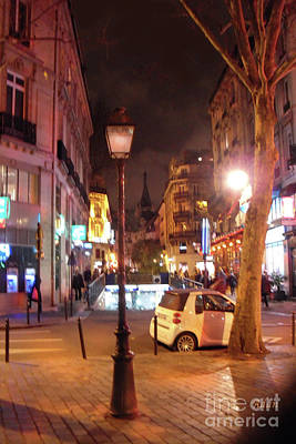 Photograph - Place St Michel To Latin Quarter To Eglise Saint-severin by Felipe Adan Lerma