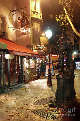 Place St Michel To Rue Saint-andre Des Arts Art Print by Felipe Adan Lerma
