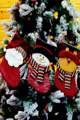 Photograph - Place The Stockings On Your Tree Art  by Sheila Mcdonald