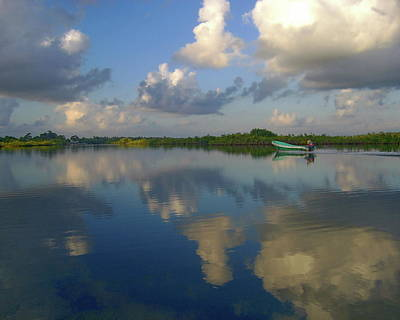 Photograph - Placencia Lagoon by Anthony Dezenzio