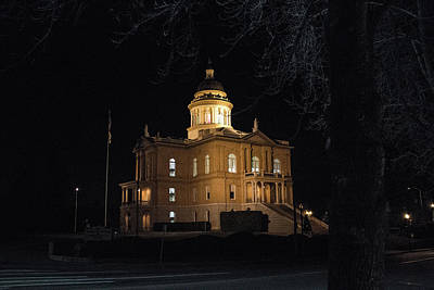 Purely Purple - Placer County Courthouse Auburn Ca. by Dennis Latona