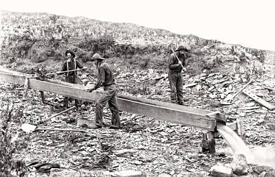 Old Miner Photograph - Placer Gold Mining C. 1889 by Daniel Hagerman