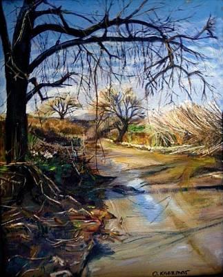 Placerita Creek 1 Art Print by Olga Kaczmar