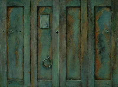 Painting - Placerville Iron Doors by Sheri Hoeger