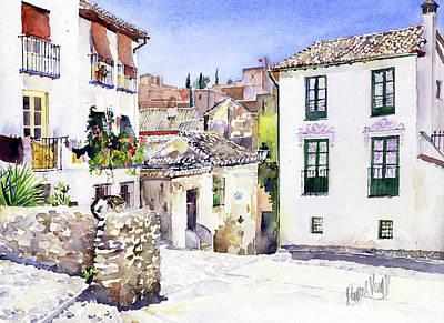 Painting - Placeta Nevot Albaicin Granada by Margaret Merry