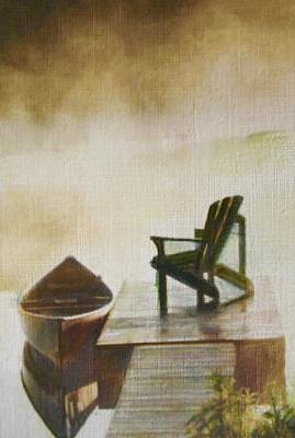 Hot Wax Painting - Placid Reflection by Cara Frafjord