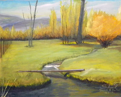 Painting - Placid Stream In Field by Sherril Porter