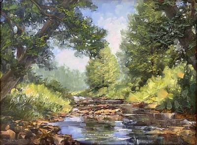 Painting - Placid Stream by Marty Coulter