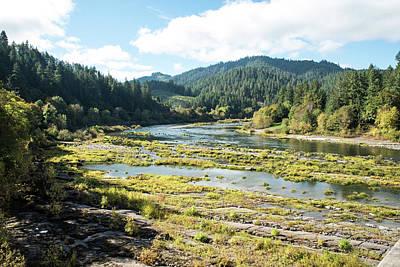 Placid Umpqua River In October Art Print