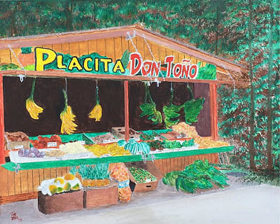 Painting - Placita by Tony Rodriguez