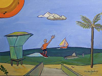 Painting - Plage De Waveland by Mike Jenkins