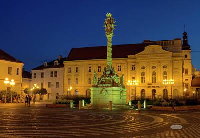 Photograph - Plague Column On Holy Trinity Square In Trnava, Slovakia by Elenarts - Elena Duvernay photo