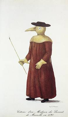 Plague Doctor Photograph - Plague Doctor, 18th Century by