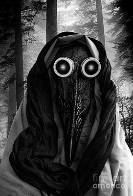Photograph - Plague Doctor 2 by Bob Christopher