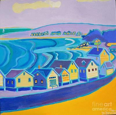 Painting - Plaice Cove Fishing Shacks Hampton Nh by Debra Bretton Robinson