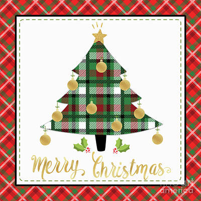 Digital Art - Plaid Christmas 2 by Jean Plout