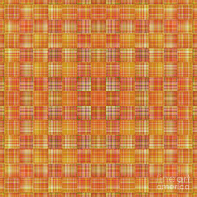 Mixed Media - Plaid Orange by Mando Xocco