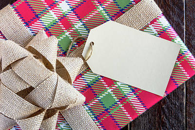 Photograph - Plaid Wrapped Christmas Presents by Teri Virbickis