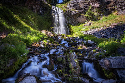 Crater Lake National Park Photograph - Plaikni Falls by Cat Connor