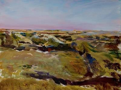 Painting - Coulee Evening by Helen Campbell