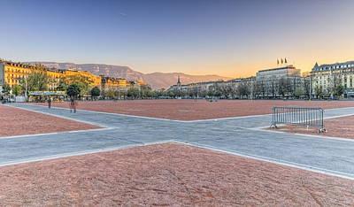 Photograph - Plain Of Plainpalais, Geneva, Switzerland, Hdr by Elenarts - Elena Duvernay photo