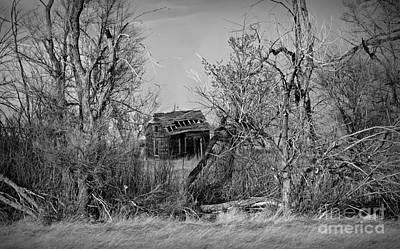 Photograph - Plains Derelict Monochrome by Chalet Roome-Rigdon