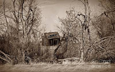 Photograph - Plains Derelict Sepia by Chalet Roome-Rigdon